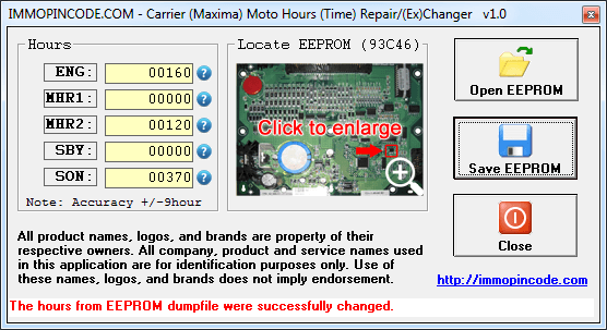 Carrier MotoHours Repair Tool 1.0