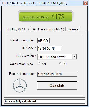 NEW FDOK Calculator XN/XT